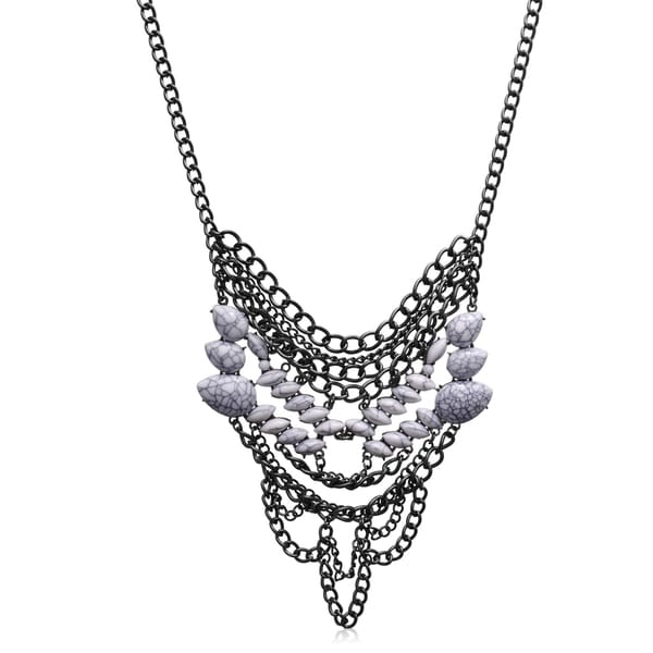 Passiana Opal Chain Statement Necklace