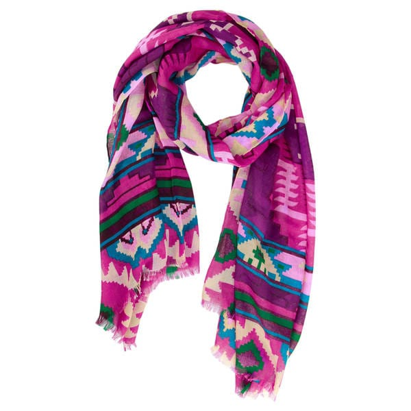 Handmade Saachi Women's Ikat Printed Scarf (China) 16804032