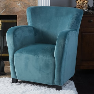 Christopher Knight Home Angelo Velvet Fabric Wingback Club Chair