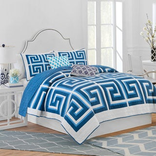 Jill Rosenwald Greek Key Reversible Quilt