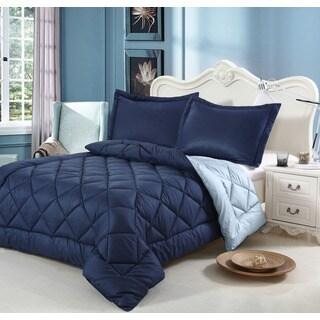 Down Alternative Reversible 3-piece Queen-size Comforter Set