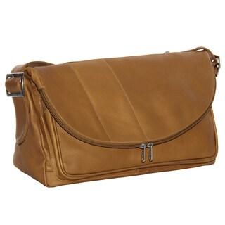Piel Leather Cross-body Tote Bag
