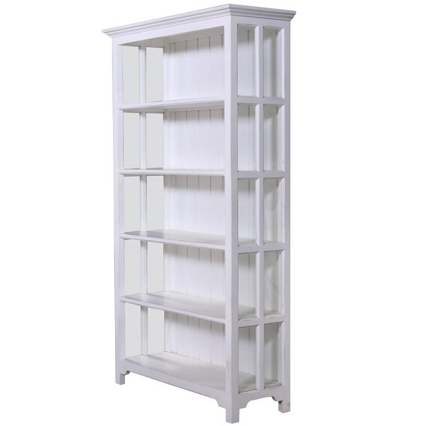 Somette Hand-crafted White Bookshelf