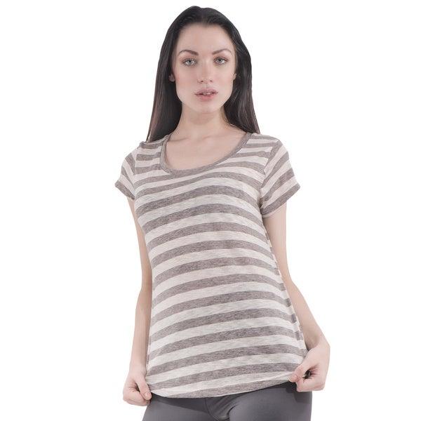 Women's Scoop Short Sleeve Stripe T-Shirt