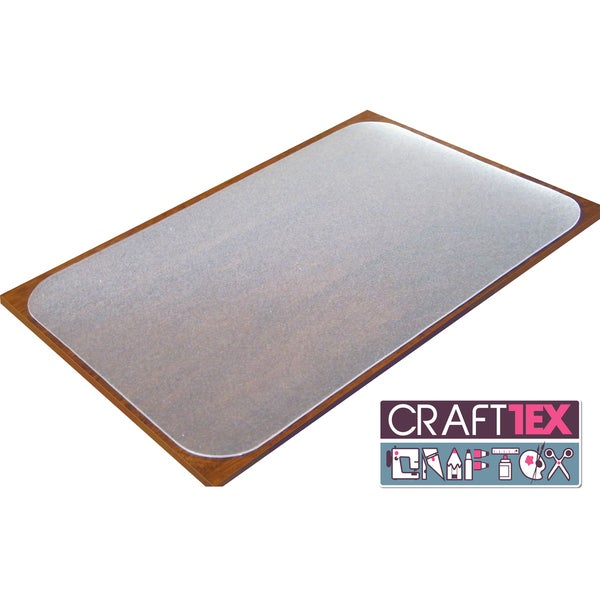 "Craftex Ultimate Table Protector. Polycarbonate with anti-slip coating. 35"" x 71"""