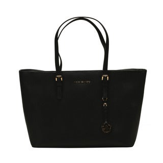 MICHAEL by Michael Kors Jet Set Item Medium Multi-Function Black Tote