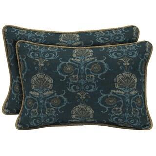 Bombay Outdoors Anatolia Blue/Rhodes Indigo Seas Reversible Outdoor Lumbar Pillows (Set of 2)