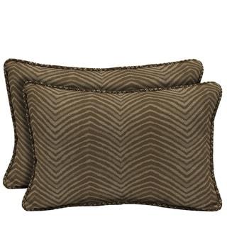Bombay Outdoors Zebra Reversible Outdoor Lumbar Pillows (Set of 2)