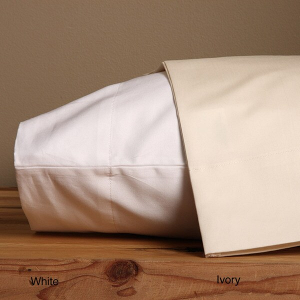 Grand Luxe Sateen 800 Thread Count Egyptian Cotton Solid Pillowcases (Set of 2) 16806399