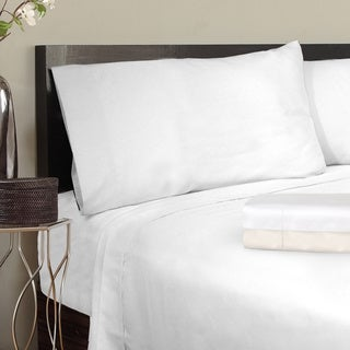 Grand Luxe Egyptian Cotton Solid Sateen 1200 Thread Count Pillowcases (Set of 2)