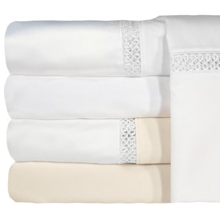 Grand Luxe Egyptian Cotton Duetta 1200 Thread Count Pillowcases (Set of 2)