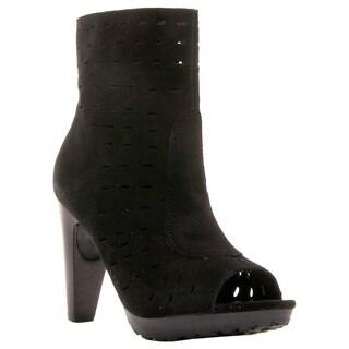 Envy Women's Shoes Throttle Peep Toe Genuine Suede Platform Bootie