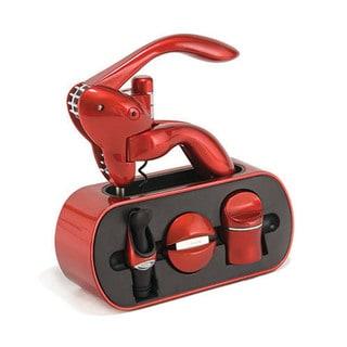 Metrokane Metallic Red Houdini Wine Tool Stand