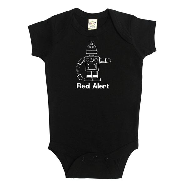 Rocket Bug Robot 'Red Alert' Baby Bodysuit