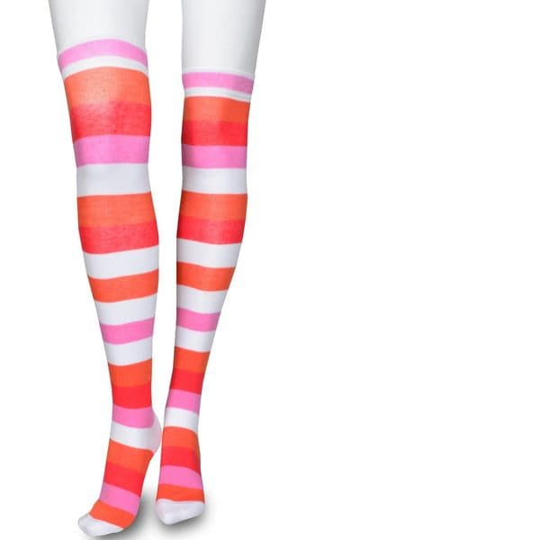 Teehee Womens Cotton Fashion Wide Stripe Over the Knee