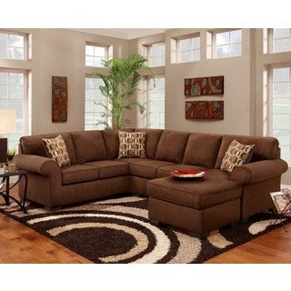 LYKE Home Brittney Chocolate Sectional