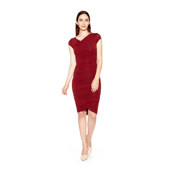 Bailey44 Primrose Ruched Knee Length Dress