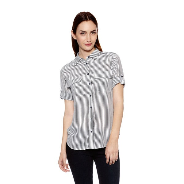 Equipment Short Sleeve Slim Signature Button Down Shirt