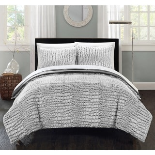 Chic Home Caimani Grey Faux Fur Queen 7-piece Comforter Set
