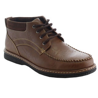 ALESSIO M297H Men's Mocassin Lace-up Ankle Booties