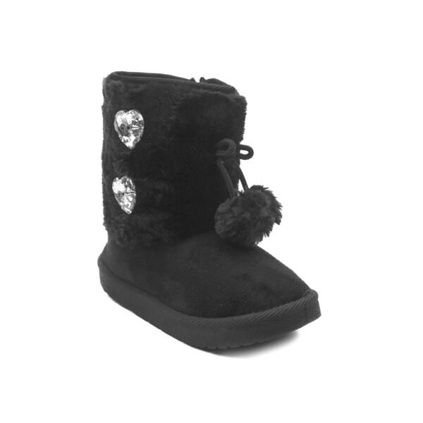 Blue Girls IK-Wilva Faux Fur Mid Calf Boots