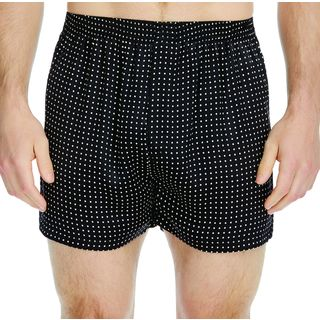 Majestic Men's Polka-Dot Silk Charmeuse Boxer Shorts