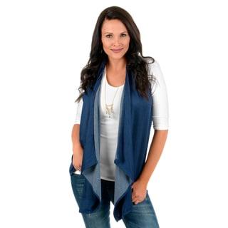 Journee Collection Women's Open Vest Cardigan