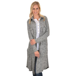 Journee Collection Women's Long Ribbed Duster Cardigan