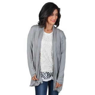 Journee Collection Women's Pleated Knit Cardigan