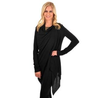 Journee Collection Women's Drape Side Clip Cardigan