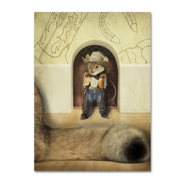 J Hovenstine Studios 'New Mouse In Town' Canvas Wall Art