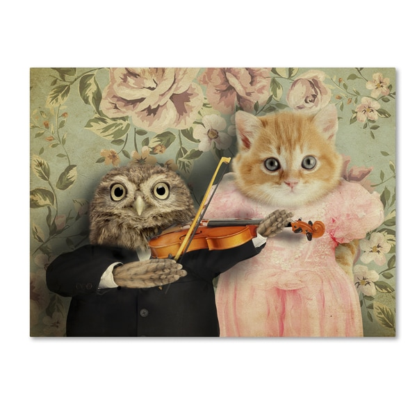 J Hovenstine Studios 'The Owl And The Pussycat' Canvas Wall Art