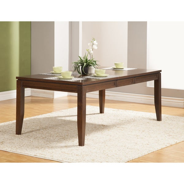 Somette Batavia Oak Counter-Height Dining Table with Extension Leaf