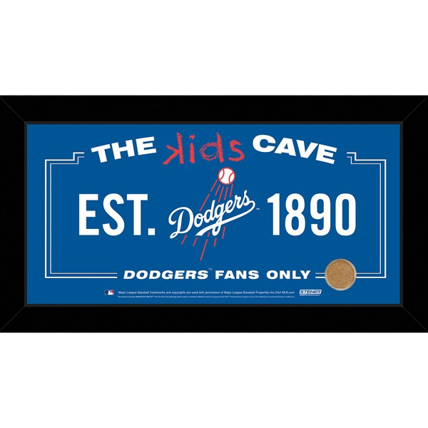 Steiner Sports MLB Los Angeles Dodgers 6x12 Kids Cave Sign w/ Game Used Dirt from Dodger Stadium