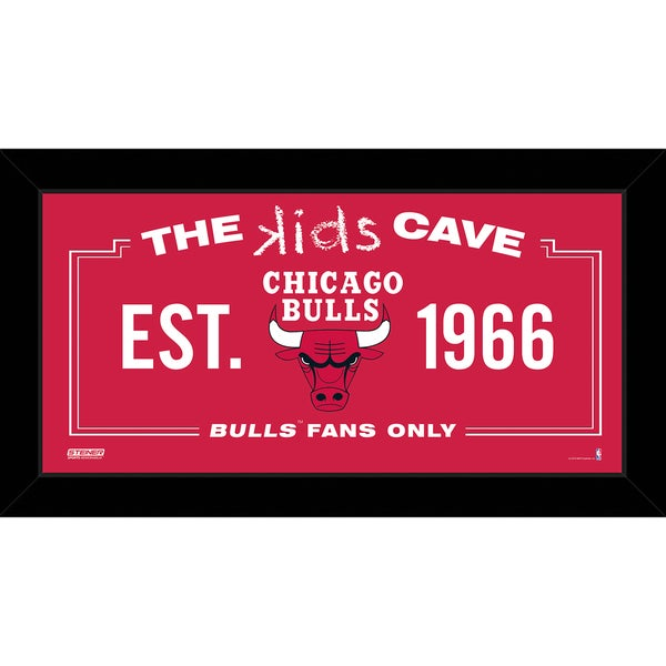 Steiner Sports NBA Chicago Bulls 6x12 Kids Cave Sign