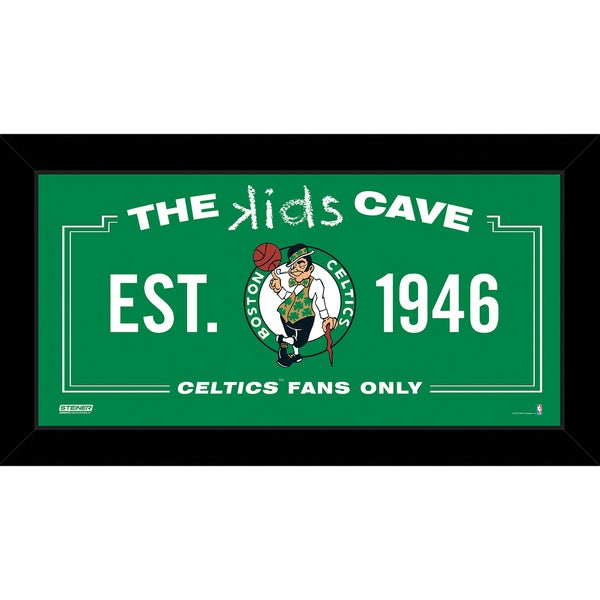 Steiner Sports NBA Boston Celtics 6x12 Kids Cave Sign