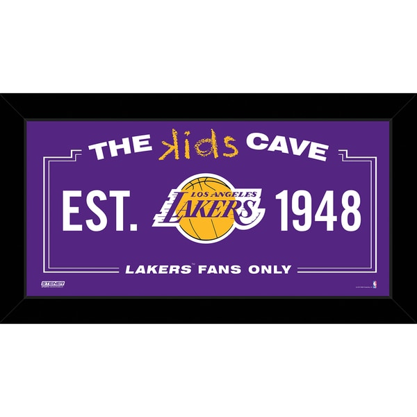 Steiner Sports NBA Los Angeles Lakers 6x12 Kids Cave Sign