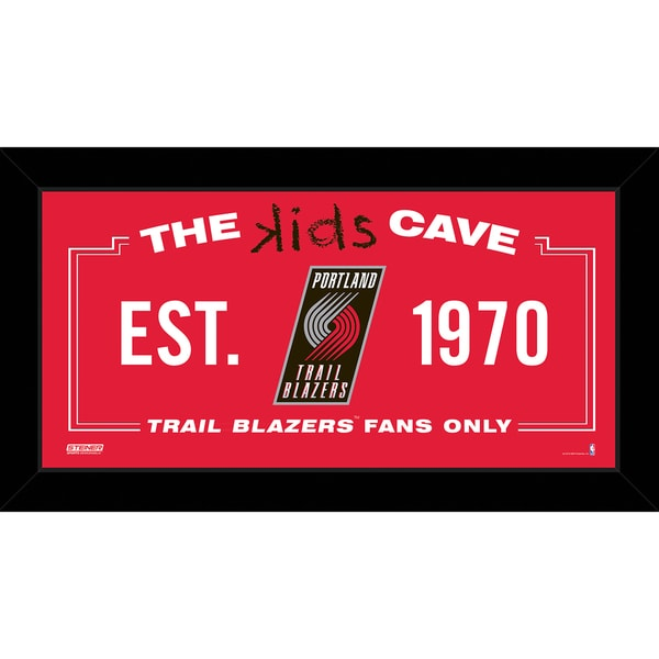 Steiner Sports NBA Portland Trail Blazers 6x12 Kids Cave Sign