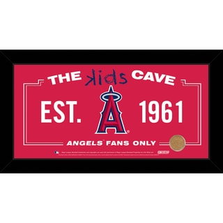 Steiner Sports MLB Los Angeles Angels 10x20 Kids Cave Sign w/ Game Used Dirt from Angel Stadium of Anaheim