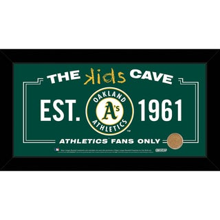 Steiner Sports MLB Oakland Athletics 10x20 Kids Cave Sign w/ Game Used Dirt from O.co Coliseum