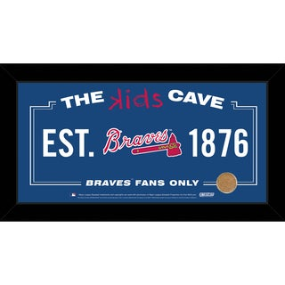 Steiner Sports MLB Atlanta Braves 10-inch x 20-inch Kids Cave Sign w/ Game Used Dirt from Turner Field
