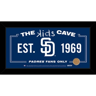 Steiner Sports MLB San Diego Padres 10x20 Kids Cave Sign w/ Game Used Dirt from Petco Park