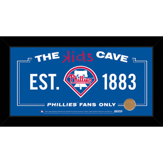 Steiner Sports MLB Philadelphia Phillies 10x20 Kids Cave Sign w/ Game Used Dirt from Citizens Bank Park