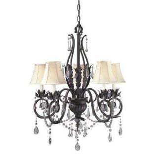 Berkeley Square Collection 5-Light Weathered Bronze Chandelier