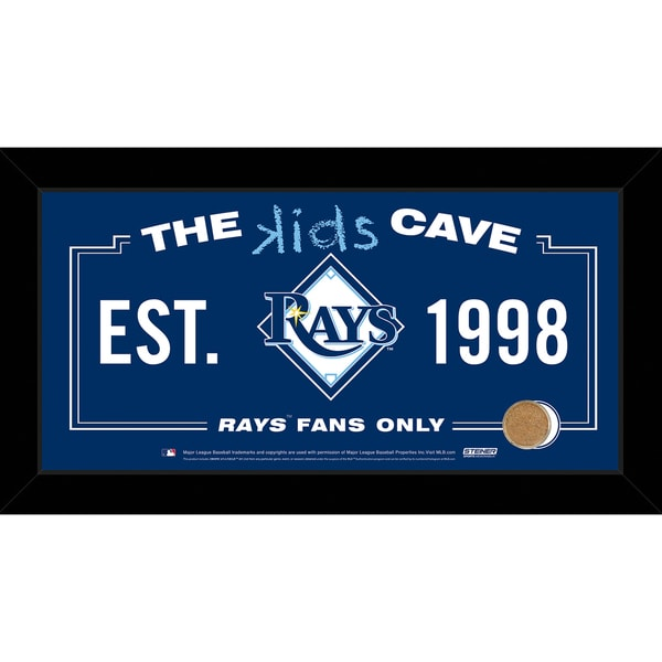 Steiner Sports MLB Tampa Bay Rays 10x20 Kids Cave Sign w/ Game Used Dirt from Tropicana Field 16817240