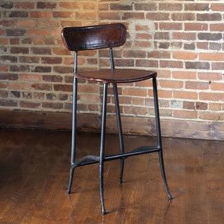 Bellini Modern Living Black Faux Leather Chrome Bar Stool