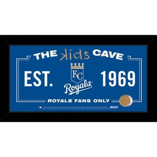 Steiner Sports MLB Kansas City Royals 10x20 Kids Cave Sign w/ Game Used Dirt from Kauffman Stadium