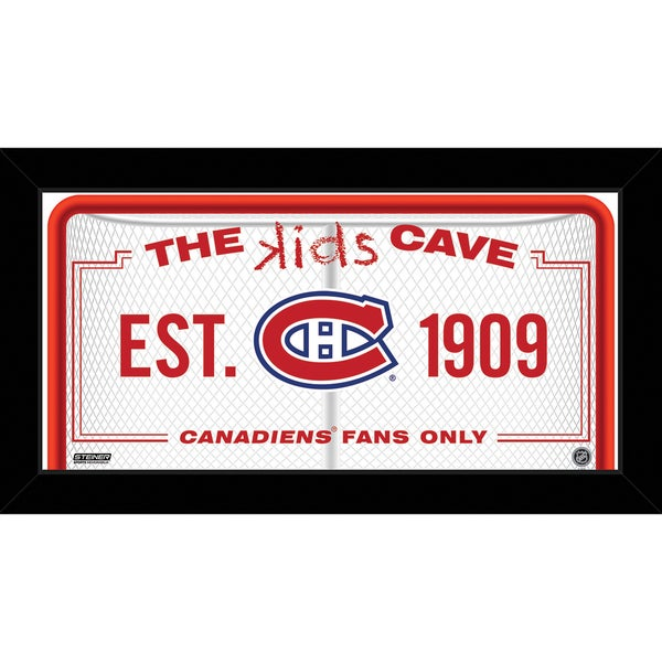 Steiner Sports NHL Montreal Canadiens 10x20 Kids Cave Sign