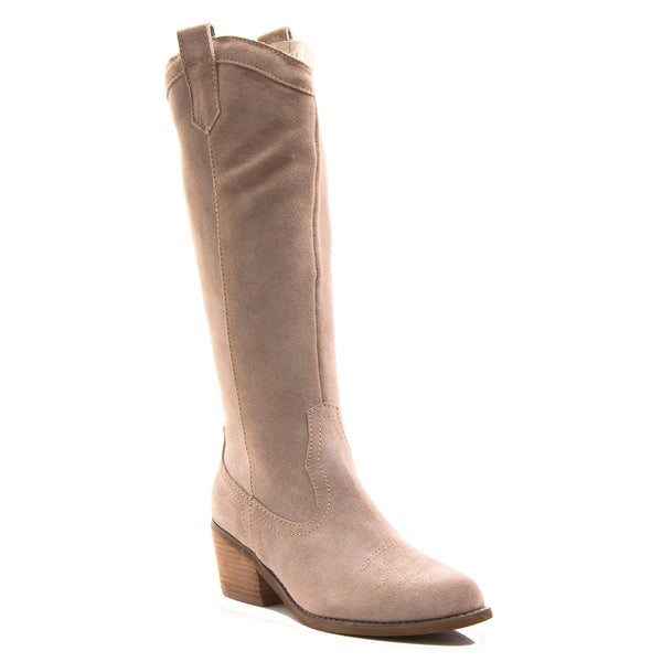 Envy Women's Shoe Ride'em Knee High Western Pull on Genuine Suede Boot
