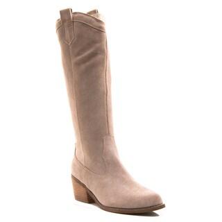 Envy Women's Shoe Ride'em Knee High Western Pull on Genuine Suede Boot